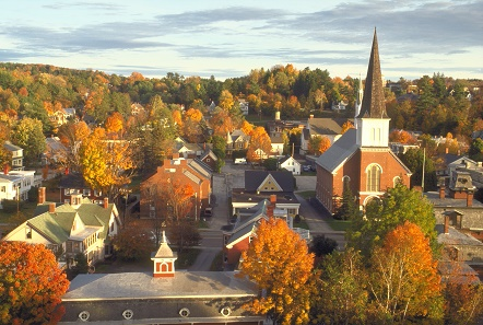 Image of foliage in a Vermont community